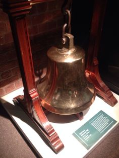 Bell from Britannic, Built by Harland and Wolff, launched 1930 at the museum in Albert Dock, Liverpool. Visited on the 11th November 2013. looking back at back when there was a titanic.