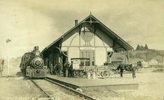 RailRoad  Depot  - 1914 (Fortuna) Califórnia - USA