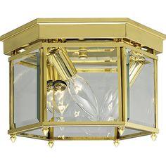 Beveled Glass Flush Mount