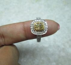 Check out this item in my Etsy shop https://www.etsy.com/listing/222482492/champagne-diamond-ring-14k-solid-gold