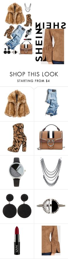 """""""Untitled #415"""" by chxhshe ❤ liked on Polyvore featuring R13, Gucci, BKE, ABS by Allen Schwartz, Bony Levy and NYX"""