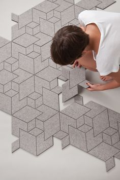 Cityscapes, an urban and minimalist carpet