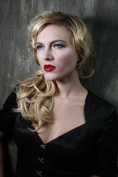Alla in Conceit blush, Redlight lipstick, TripleTake eyeshadow and Whiplash mascara by Whiplash Cosmetics