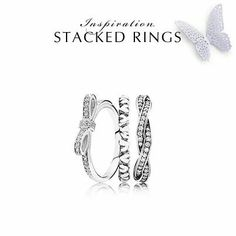 Gorgeous Pandora ring stack!