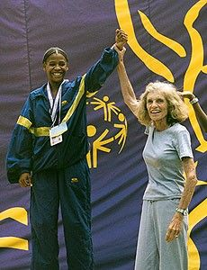 Eunice Kennedy Shriver - Founder of the Special Olympics, started in 1968. As celebrity, social worker and activist, Shriver was credited with transforming America's view of the mentally disabled from institutionalized patients to friends, neighbors and athletes.  Quite capable athletes.