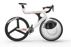 前輪の中に荷物を入れてしまうという、大胆な発想の自転車『 Transport 』2