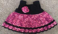 Adorable Crocheted Baby Dress | 3-6m, 6-9m, 9-12m| Ravery | Free Pattern