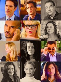 Criminal Minds. The black and white ones are the characters that aren't necessarily on the show anymore. :( Blake is soon to be gone.