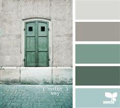New Ideas For Bath Room Colors Palette Design Seeds Colour Pallette, Color Palate, Colour Schemes, Color Combos, Paint Combinations, Green Palette, Silver Color Palette, Neutral Palette, Paint Schemes