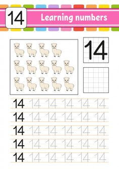 Trace And Write. Learning Numbers For Kids. Preschool Number Worksheets, Handwriting Practice Worksheets, Preschool Letters, Preschool Math, Numbers Preschool, Preschool Worksheets, Number Writing Practice, Learning Numbers, Writing Numbers