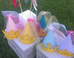 Disney Princess Inspired Party Hats- Cinderella, Sleeping Beauty, Rapunzel, Belle, Jasmine/Merida/Little Mermaid