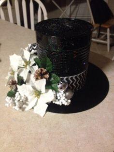 Snowman hat centerpiece