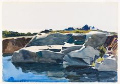 Edward Hopper - Rocky Shore and Water (1923)