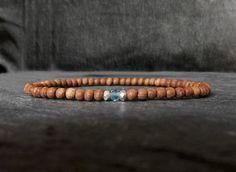 Stretch Bracelets, Beaded Bracelets, Simple Jewelry, Bracelet Making, Minimalist, Gemstones, Trending Outfits, Men, Etsy