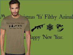 Merry Christmas Ya' Filthy Animal!! -by My Geekery