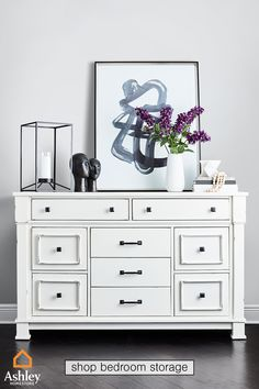 Fresh flowers make a great addition to any surface top, especially paired with the Jennily dresser. Shop now and upgrade your #BedroomStorage. Big Girl Bedrooms, Girls Bedroom, Master Room, Bedroom Storage, Flower Making, Fresh Flowers, Your Space, Storage Organization, Home Furnishings