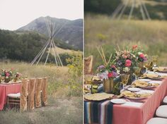 Utah Bride Blog fall editorial 2013 | Native American inspired tablescape by @eventsbylmg flowers by @studiostems