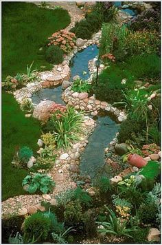 """I love how this stream has a balance of being """"tailored"""" and being natural looking. #GardenPond"""