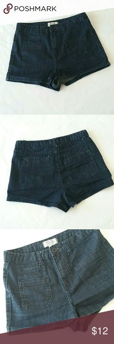 PREMIUM DENIM 'I LOVE H81' JEAN SHORTS Excellent Condition!  TAGGED SIZE 26. Adorable front and back pockets. Stretchy. Forever 21 Shorts Jean Shorts