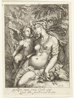 Venus and Amor, 1631. Rijksmuseum, Public Domain
