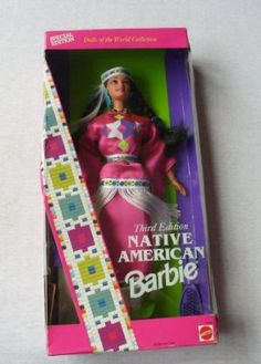 Native American Barbie - Third Edition - Dolls of the World Collection by Mattel. $19.95. DOLLS OF THE WORLD 3RD EDITION COLLECTION. LOVELY DRESSED IN NATIVE AMERICAN ATTIRE.