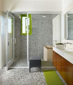 Fesselnd Badezimmer Deko Moderne Bader Badezimmer In Braun Und Beige.  Fliesengestaltung Bad Alles Voller Mosaikfliesen In Schwarzer, Weißer Und  Grauer Farbe