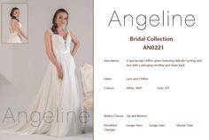 Bride dress Bridal by anenia Chiffon Gown, Plunging Neckline, Bridal Collection, Bridal Dresses, Bodice, Formal Dresses, Lace, Fashion, Bride Dresses