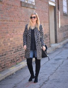 Leopard Print and Over the Knee Boots | Winter Style