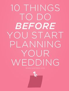 10 Things To Do Before You Start Planning Your Wedding pinned by Michael Eric Berrios DJMC mbeventdjs.com #mikebdjmc #michaelberrios