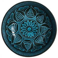 Miletus Flowered Ceramic Plate