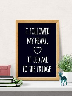Fridge love quote Kitchen wall Decor Funny by DilemmaPoster Wall print art decor
