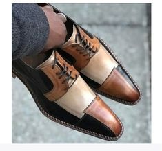 Handmade men 3 tone shoes, men dress formal shoes, real leather lace up shoe Detail Upper real leather Inner soft leather Sole Leather male Leather Manufacturing time 10 days Suede Leather Shoes, Leather And Lace, Leather Men, Real Leather, Cowhide Leather, Lace Up Shoes, Men's Shoes, Shoe Boots, Shoes Men
