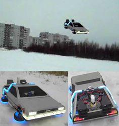 Quadrotor Flying DeLorean