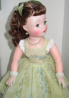 "CISSY DOLL IN HER DRESS, SLIP, PANTIES, PANTIES, NYLONS, BOW, more, 20"" Tall"