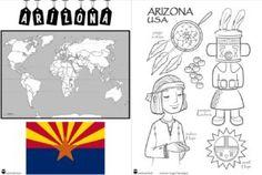 CE1/CE2 • Littérature • Projet Arizona (USA) ~ Arizona Usa, United States, The Unit, Animation, Kindergartens, Art History, World, Animation Movies, Motion Design