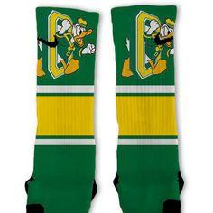 Oregon Ducks Retro Throwback Custom Nike Elite Socks
