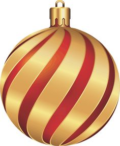 Large Transparent Christmas Gold And Red Ornament