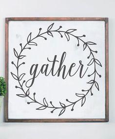 Loving this White & Black Distressed Grateful Wreath Framed Wood Wall Art on #zulily! #zulilyfinds
