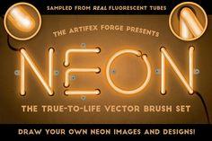 Neon Realistic Brush Set