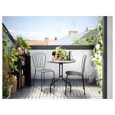 IKEA LÄCKÖ chairs, outdoor The drain hole in the seat lets water drain out. Balcony Chairs, Balcony Flooring, Balcony Furniture, Iron Furniture, Garden Chairs, Outdoor Furniture Sets, Furniture Layout, Furniture Ideas, Outdoor Table Tops