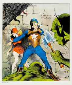 Ungoliantschilde — the Buck Rogers Portfolio, by Frank Frazetta. Frank Frazetta, Comic Book Artists, Comic Artist, Space Fantasy, Fantasy Art, New York City, Scary Alien, Creepy, Brooklyn