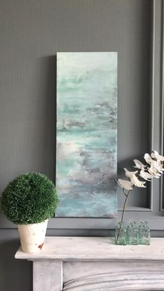 """ Waters Edge"" Original mixed media painting on deep edge canvas wall Art Paint Studio, Bespoke Furniture, Mixed Media Painting, Art School, Blue And Silver, Canvas Wall Art, Original Paintings, Deep, The Originals"