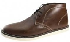 Red Tape Crumlin Tan Brown lace up  Desert Boots Leather Mens - £26.99