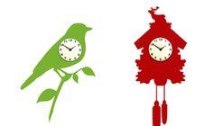 love the bird clock... sticker.