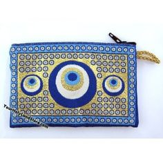 Coin Purse with Evil Eyes