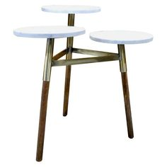 3-Tiered Accent Table - Marble/Gold - Threshold™ : Target