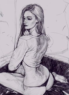 The Bloom on Behance Abstract Pencil Drawings, Pencil Drawings Of Girls, Art Drawings, Figure Sketching, Figure Drawing, Comic Art Girls, Surreal Artwork, Art Antique, Fantasy Art Women