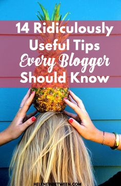Whether you're a beginning blogger or an old pro, there are some tips that can really help your blog succeed. You want to hit the ground running so you can focus on what's important: writing and sharing your life. I've compiled 14 tips that I think are ridiculously useful that all bloggers should know.   …