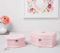 Pink Dot Abigail Jewelry Box Collection