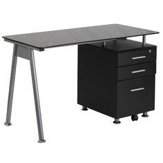 Found it at Wayfair - Computer Desk with 3 Drawer Pedestal